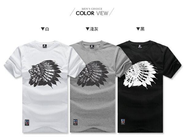 ☆BOY-2☆【KKL2010】韓男裝獅子印地安短袖T桖 1
