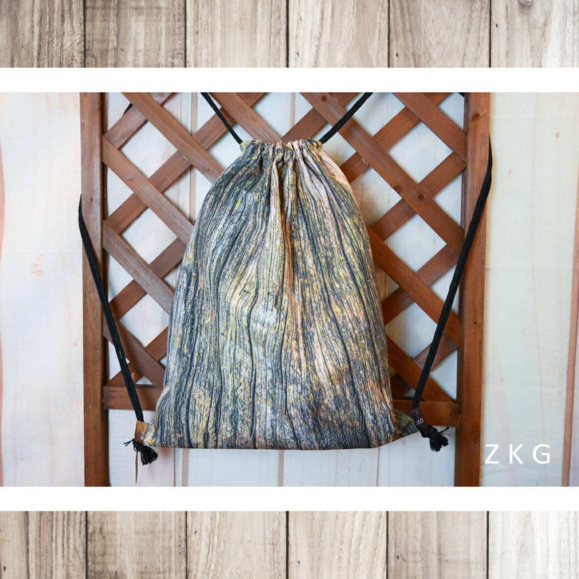ZKG 木系列-束口後背包-單個入 台灣(手工製)*送禮*自用*