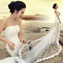 天使嫁衣~AE8501~平口收腰下擺透視飄紗拖尾禮服˙ 訂製款