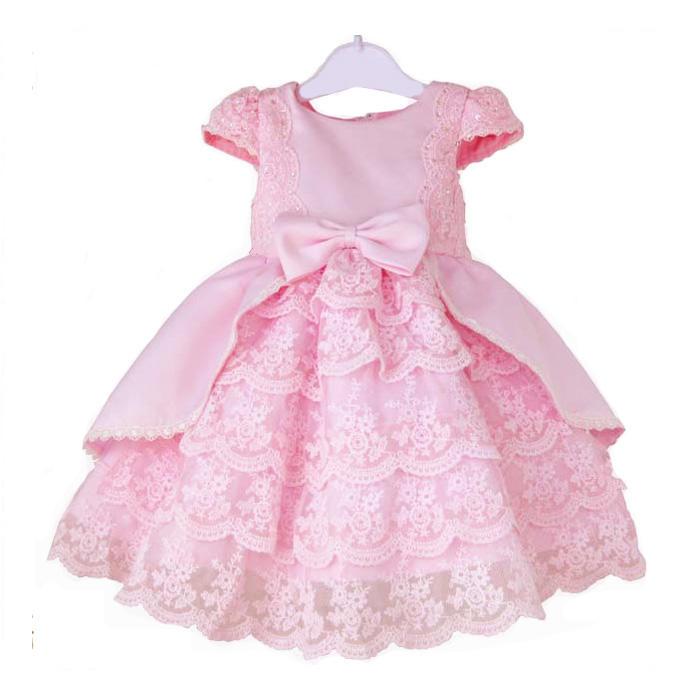 天使嫁衣【童C0114】粉色100碼小包袖公主裙擺花童禮服˙現貨特價
