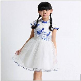 天使嫁衣【童C0133】青花瓷中國風改良式小禮服˙預購訂製款