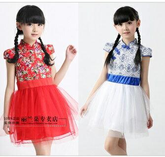 天使嫁衣【童C0136】2色中式古典小包袖改良式禮服˙預購訂製款