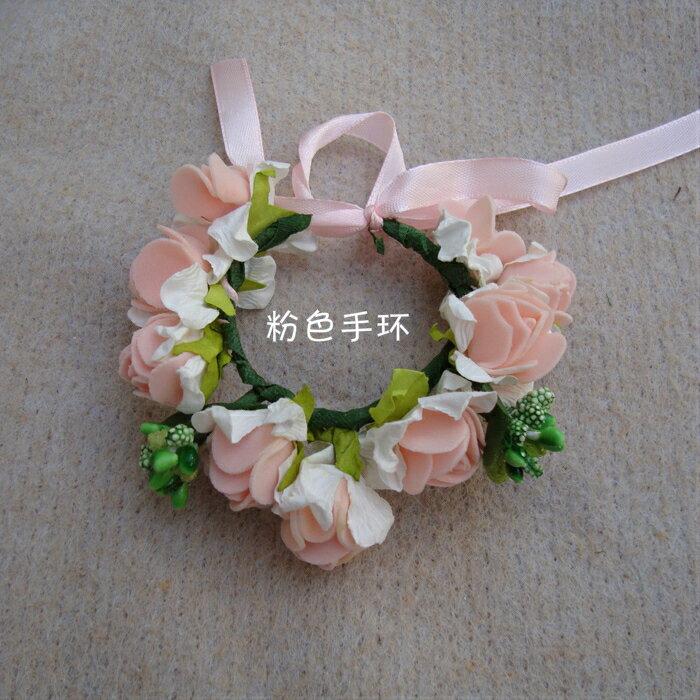 天使嫁衣【童CP20】2色泡棉仿花朵造型手腕花˙預購特價訂製款