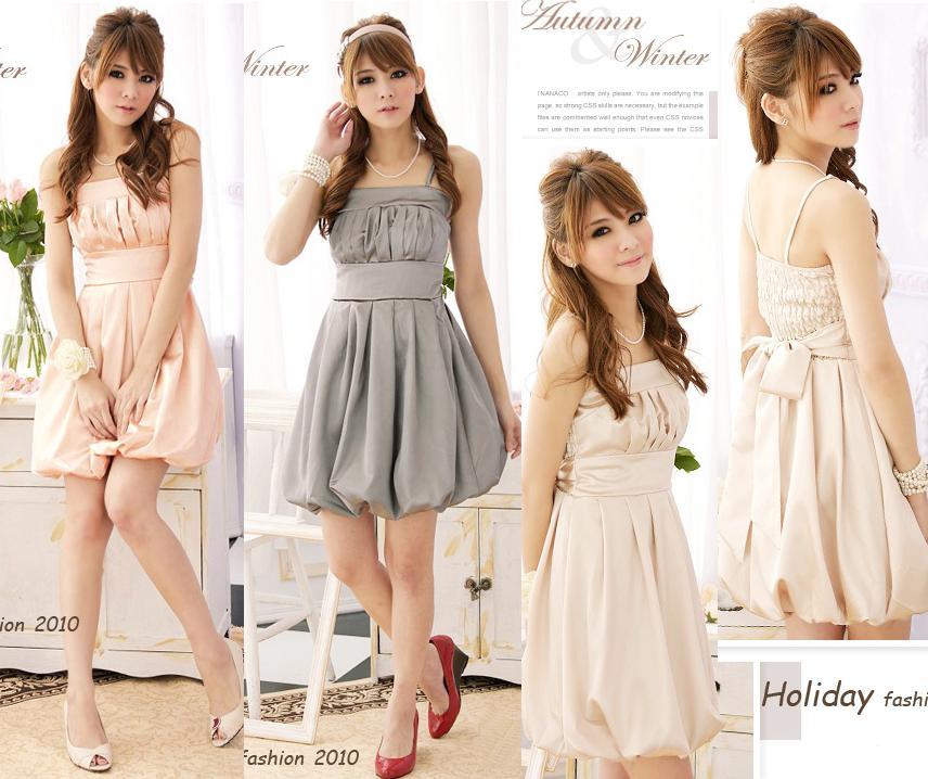 天使嫁衣【HL929】3色中大尺碼壓折美胸緞面質感平口洋裝小禮服˙預購訂製款