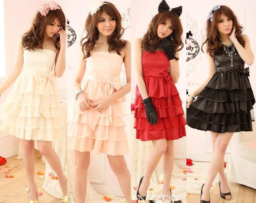 天使嫁衣【HL2205】4色中大尺碼公主款多層裙背後馬甲造型小禮服˙預購訂製款