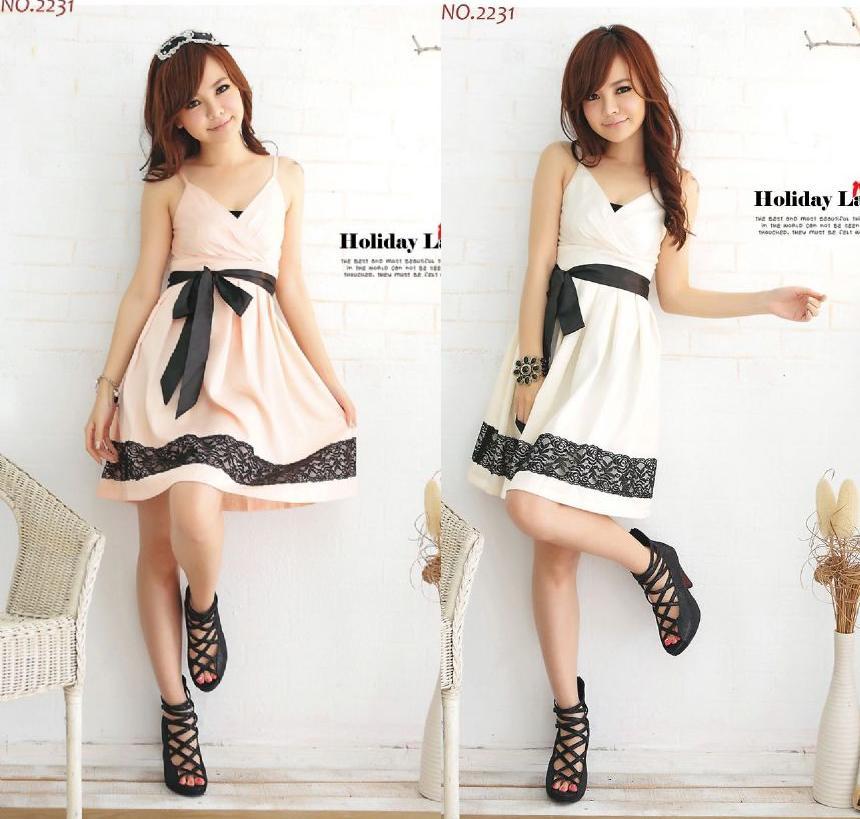天使嫁衣【HL2231】2色中大尺碼氣質吊帶蕾絲裝飾裙擺洋裝小禮服˙預購訂製款