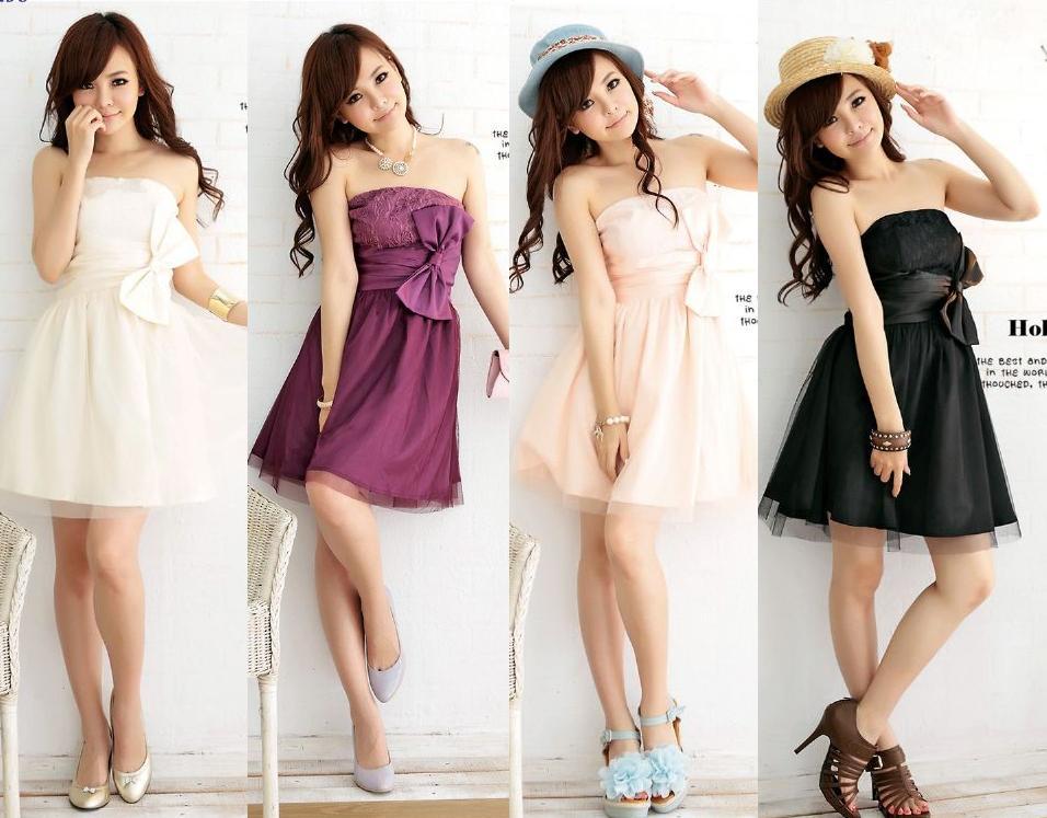 天使嫁衣【HL2258】3色中大尺碼平口特色蝴蝶結點綴洋裝小禮服˙預購訂製款