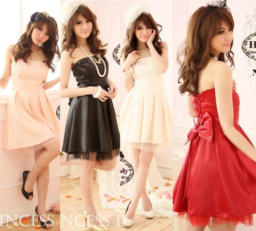 天使嫁衣【HL2207】4色中大尺碼公主款背後大蝴蝶結馬甲洋裝小禮服˙預購訂製款