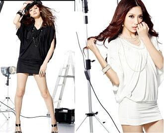天使嫁衣【HL470】2色摩登時尚V領裸肌包臀洋裝˙預購