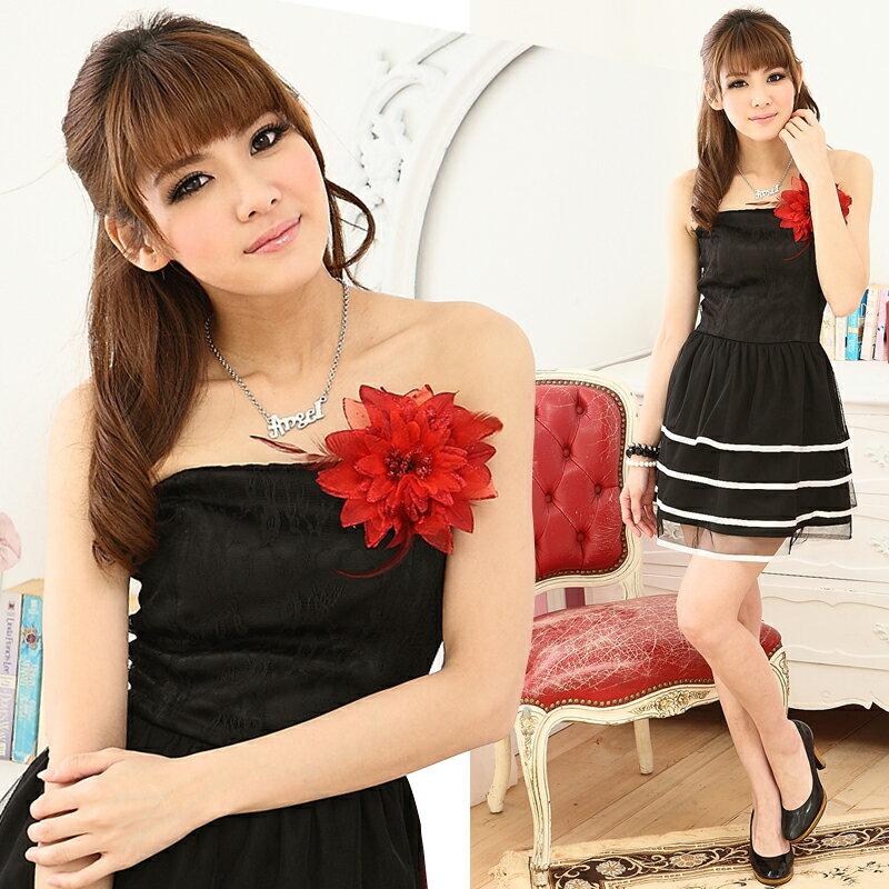 天使嫁衣【HL995】黑色公主氣質甜美蕾絲配蝴蝶結洋裝小禮服˙預購訂製款