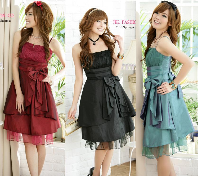 天使嫁衣【J2K1110】3色中大尺碼大蝴蝶結洋裝小禮服˙預購訂製款