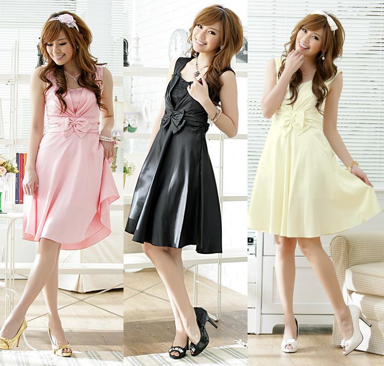 天使嫁衣【J2K1122】3色中大尺碼氣質典雅胸前圓珠洋裝小禮服˙預購訂製款