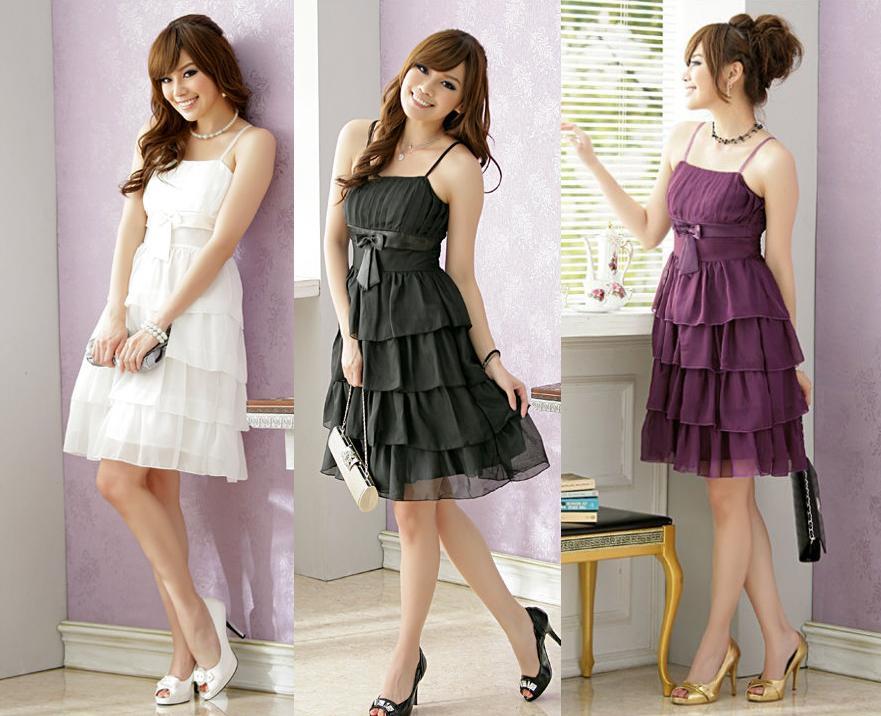 天使嫁衣【J2K1125】2色中大尺碼蛋糕層層洋裝小禮服˙預購訂製款