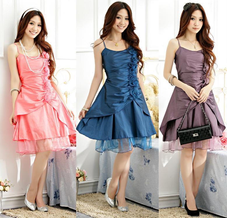 天使嫁衣【J2K1179】2色中大尺碼甜美公主分叉式洋裝小禮服˙預購訂製款
