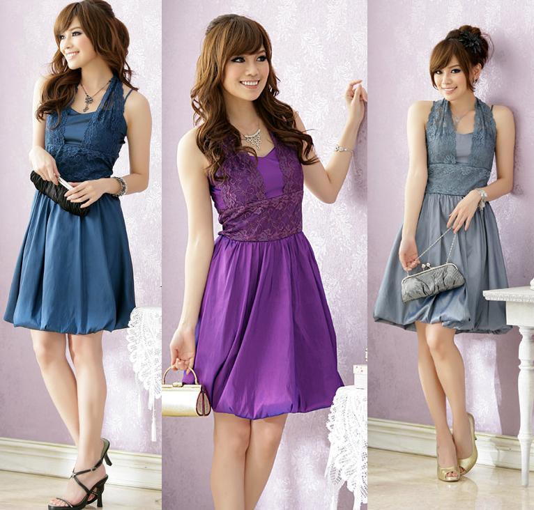 天使嫁衣【J2K1188】3色中大尺碼花網掛頸燈籠擺洋裝小禮服˙預購訂製款