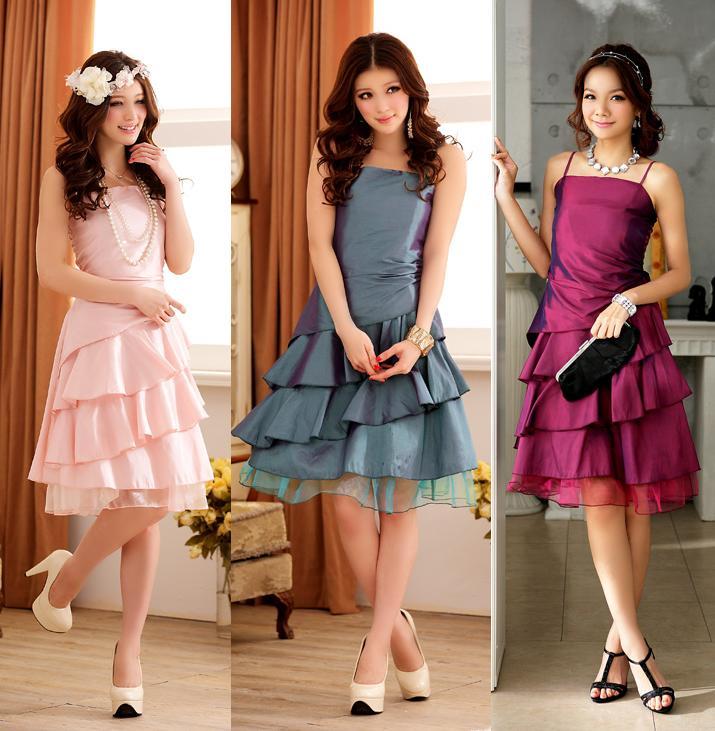 天使嫁衣【J2K3100】3色中大尺碼傾城美色荷葉網紗吊帶洋裝小禮服˙預購訂製款