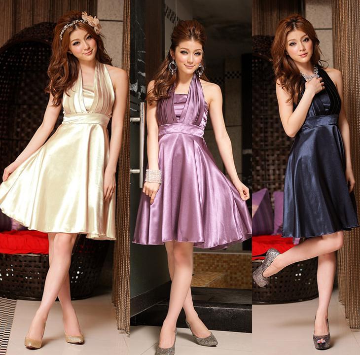 天使嫁衣【J2K8417】3色中大尺碼晚宴高貴大擺圍脖洋裝小禮服-預購+現貨