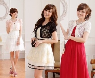 天使嫁衣【J2K9612】3色甜美隨性百搭蕾絲短袖開衫空調衫夏季小外套披肩˙預購