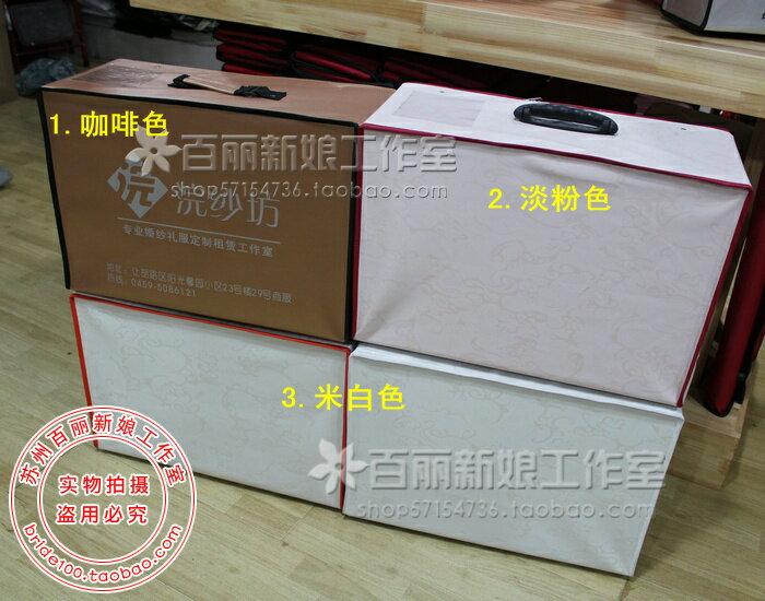 天使嫁衣【PL009】2色高檔印花皮革婚紗收納箱-下架