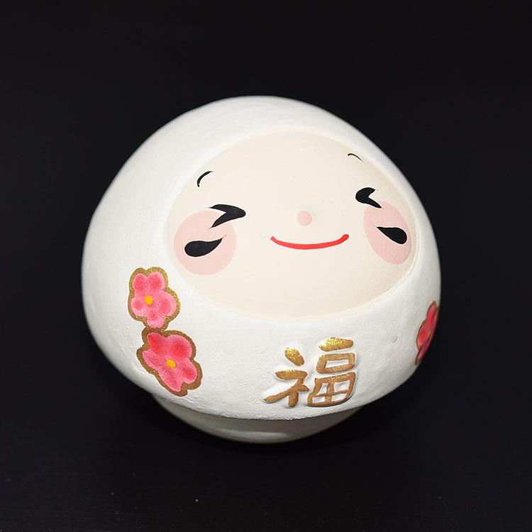 福不倒翁 素燒陶器 日本正版