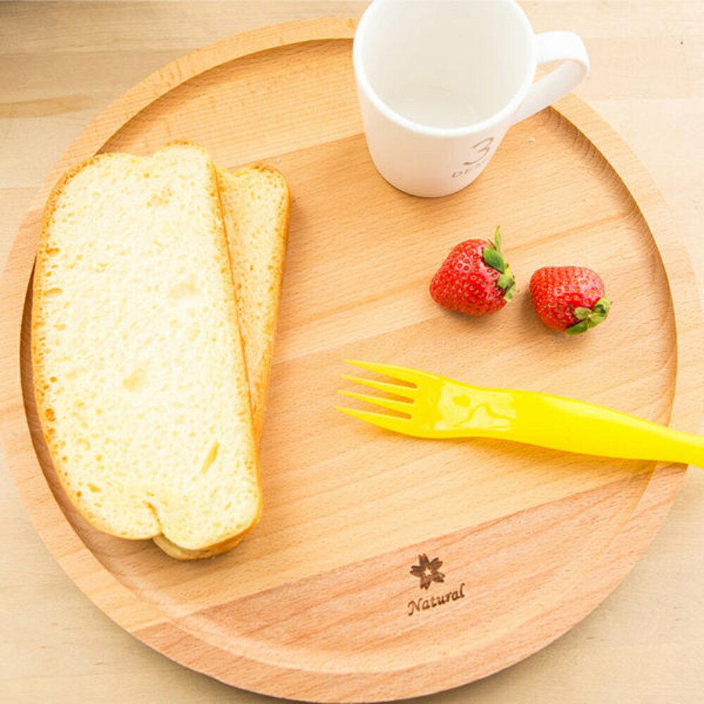 圓形櫸木 點心盤 麵包盤 實木無漆果盤 ( 小20cm)