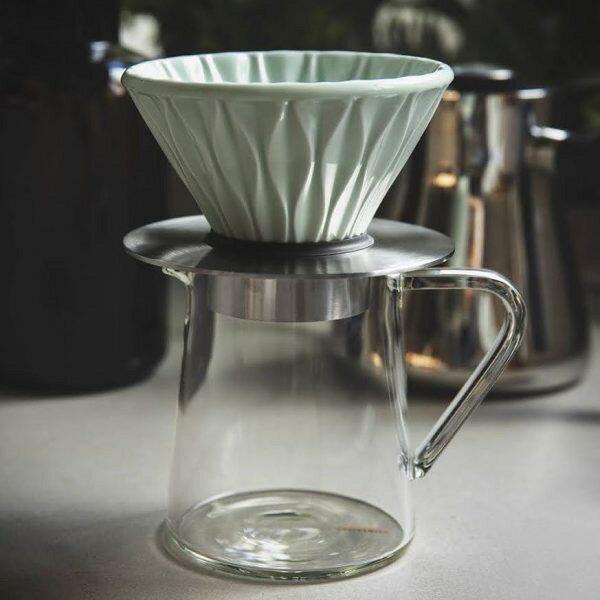 【沐湛咖啡】LOVERAMICS 愛陶樂 | 厚 手沖玻璃下壺500ML (窄口) /手沖濾杯底座(金屬色)