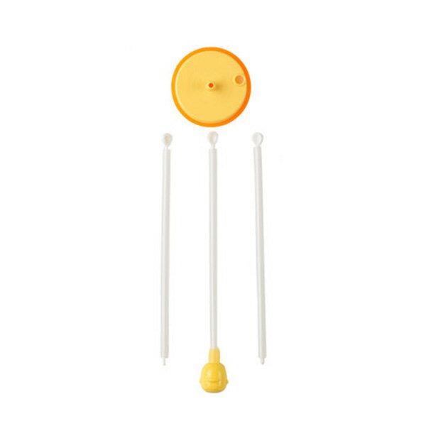 『121婦嬰用品館』黃色小鴨 寬口360˚自動吸管組