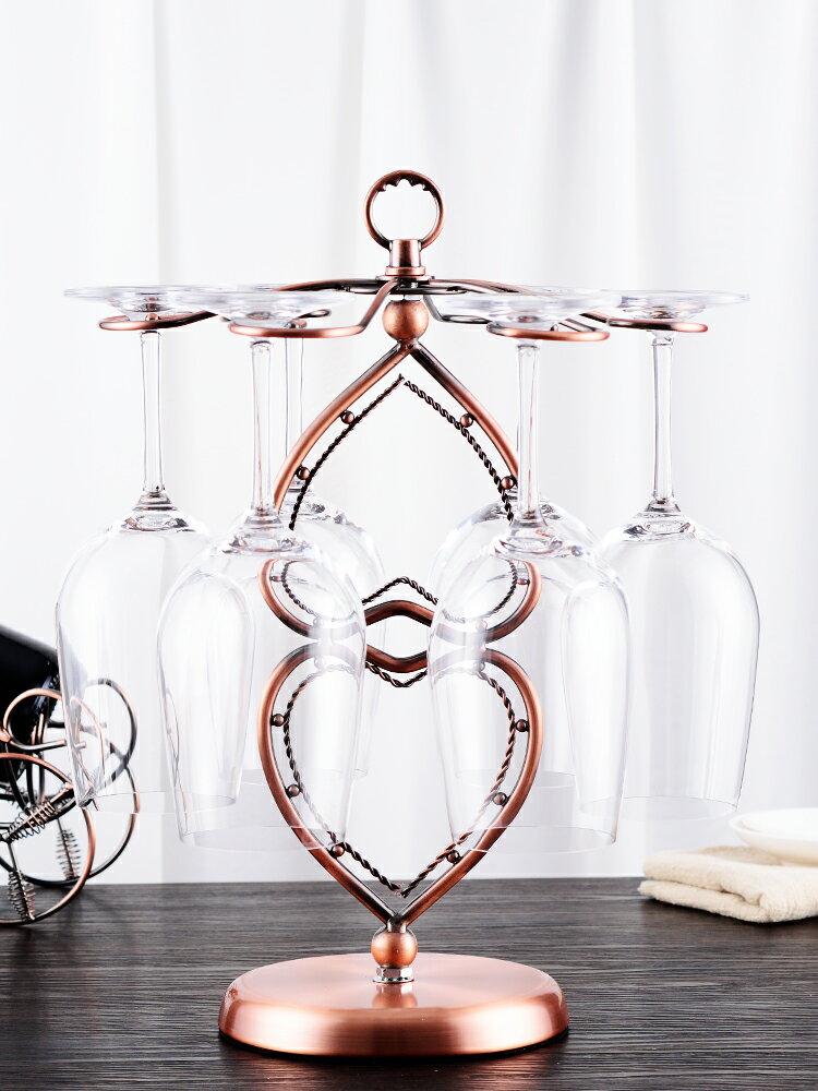 歐式紅酒杯架高腳杯架家用創意現代簡約倒掛杯架葡萄酒杯架子擺件1入