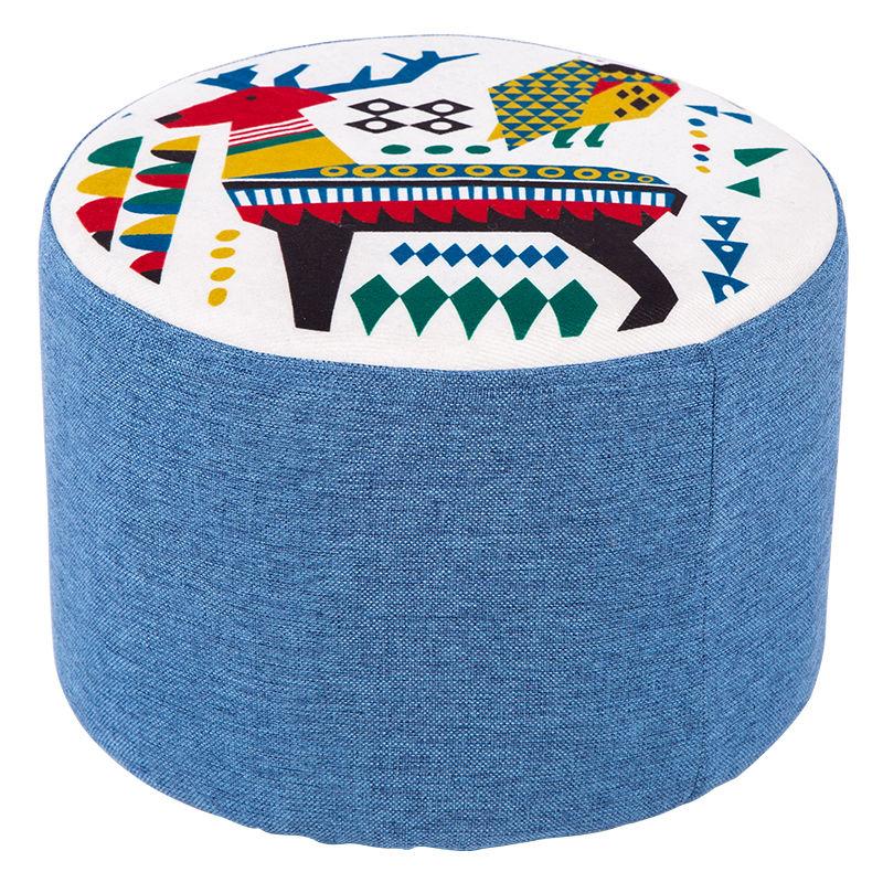 小凳子家用時尚創意圓凳實木矮凳客廳小板凳懶人可愛茶幾凳子