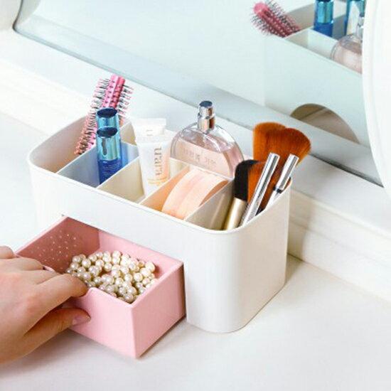 ?MY COLOR? 抽屜式收納盒 加厚款 桌面 化妝盒 化妝品 梳妝台 首飾盒 儲物盒 保養品 【P518】