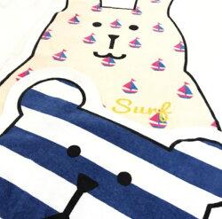 【五折】衝浪宇宙人 沙灘巾 大毛巾 吸水速乾 SURF 日本正版 craftholic 該該貝比日本精品 ☆