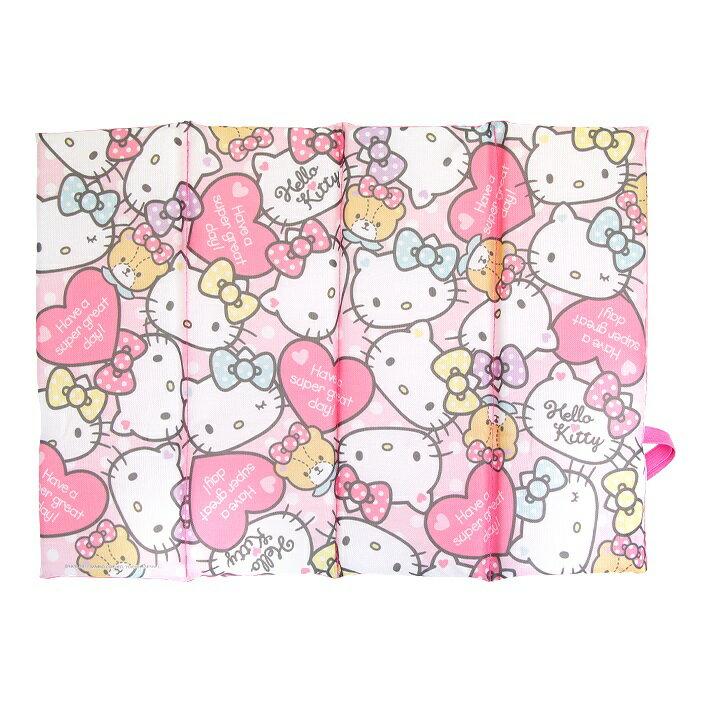 X射線【C043593】Hello Kitty 折疊涼墊,腳踏墊/地毯/止滑墊/坐墊/椅墊/涼蓆 /涼爽/夏天/環保/地墊/床墊