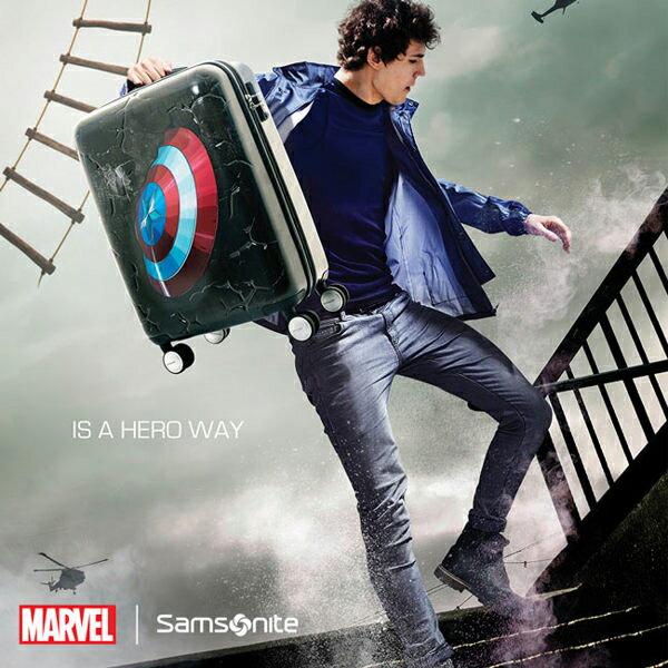 【加賀皮件】Samsonite新秀麗Marvel漫威英雄系列美國隊長3D立體20吋行李箱登機箱旅行箱AD2-48001