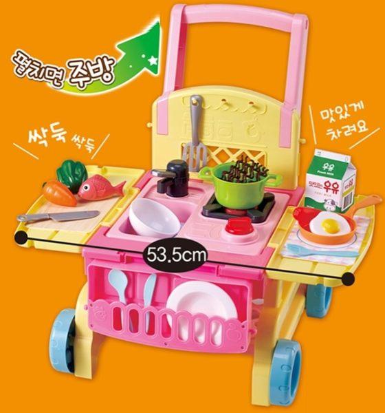 【MIMI WORLD】2in1可愛廚房手推車 4