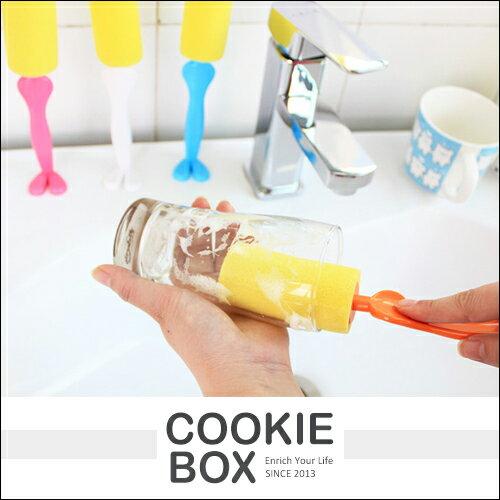 紳士 先生 人形 站立式 海綿 杯刷 (顏色隨機) 廚房 杯子 餐具 清潔 刷子 刷具 *餅乾盒子*