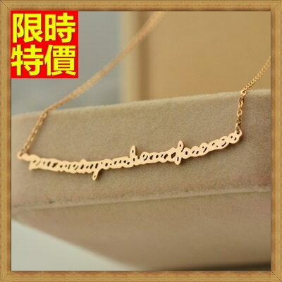 ~玫瑰金純銀項鍊吊墜~浪漫 情人節 英文字母飾品71x134~ ~~米蘭 ~