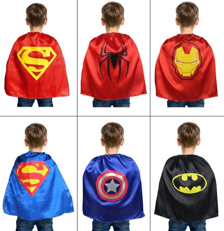 兒童披風,超人披風/蜘蛛人披風/蝙蝠俠披風/鋼鐵人披風/美國隊長披風/復仇者聯盟