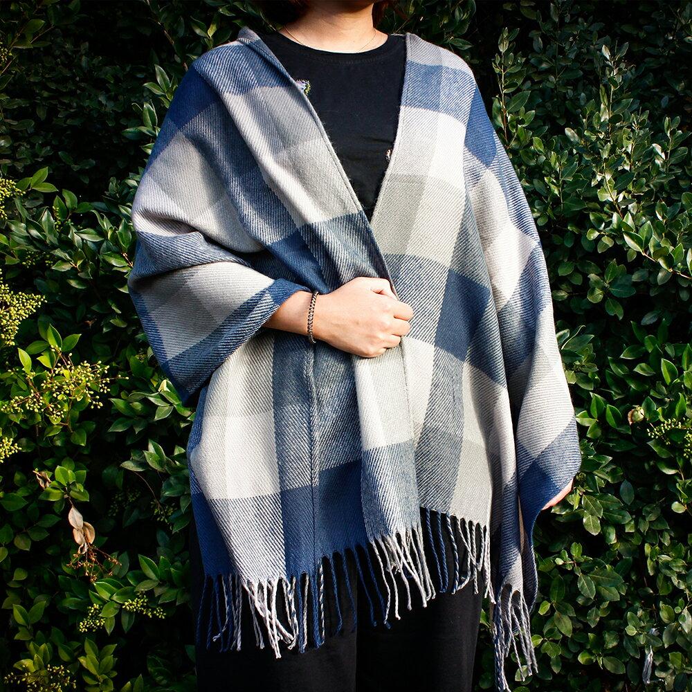 Women's Plaid Scarf Blanket Fashion Long Shawl Big Grid Large Winter Warm Cozy Tartan Wrap with Fringe 8