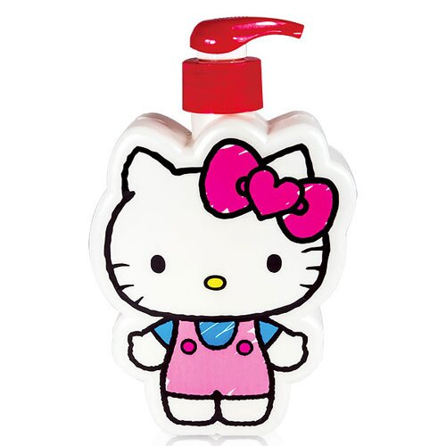 ☆Hello Kitty☆凱蒂貓『40週年限定』插畫風造型3D造型沐浴公仔 - 棉花糖女孩 350 ml 精美Kitty 造型瓶罐值得收藏