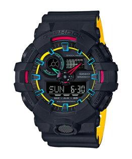 CASIOG-SHOCKGA-700SE-1A9街頭螢光元素流行腕錶53.4mm