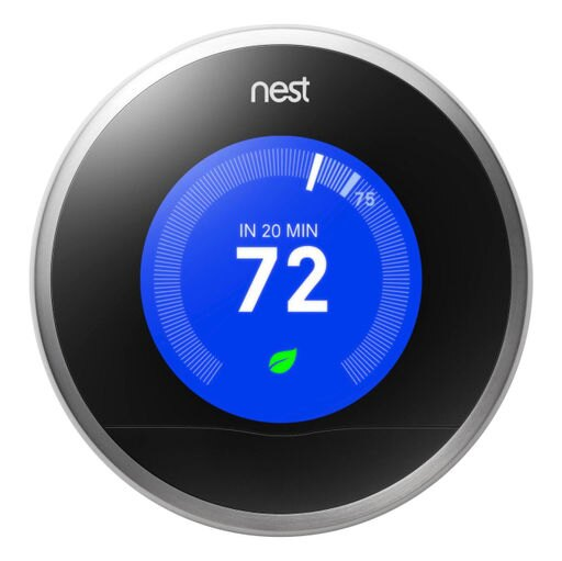 Nest 2nd Generation Learning Stainless Steel English Programmable