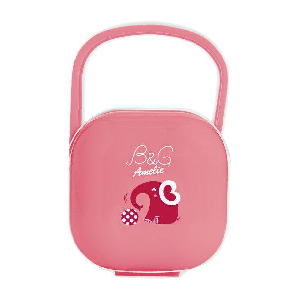 Baby Garden 安撫奶嘴收藏盒超值組(4號香草/天然奶嘴+收藏盒)小紅象