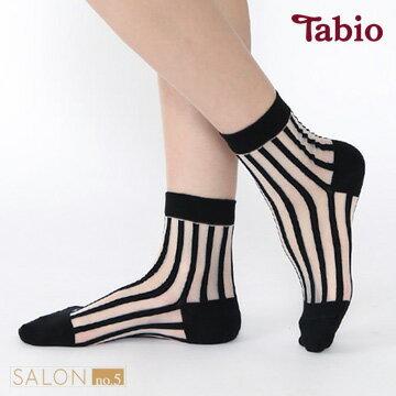 日本靴下屋Tabio 時尚經典條紋透膚短襪 - 限時優惠好康折扣