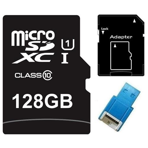 Major OEM 128GB 128G microSDXC UHS-I 70MB/s Class 10 microSD micro SD SDXC C10 Card + USB 2.0 Reader 0