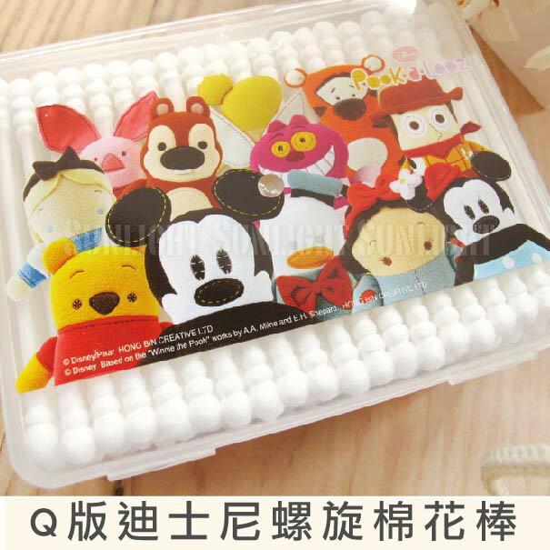 日光城。Q版迪士尼螺旋棉花棒盒裝200支,細緻純棉殺菌鼻清潔螺旋棉棒嬰兒細軸雙頭棉簽
