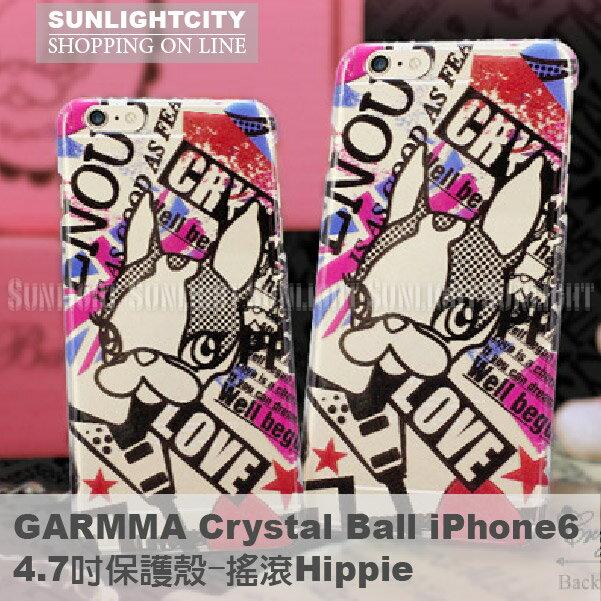 日光城。iphone6螢幕保護貼,Crystal Ball iPhone6 4.7吋保護殼-搖滾Hippie i phone 6 plus
