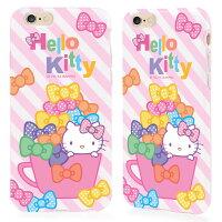 凱蒂貓週邊商品推薦到日光城。GARMMA Hello Kitty iPhone 6 4.7 TPU保護軟殼-蝴蝶杯杯