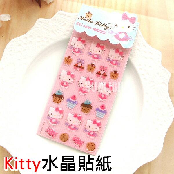 ○日光城。Hello Kitty水晶貼紙,凱蒂貓 三麗鷗 Sanrio 蝴蝶結粉點蛋糕草莓餅乾