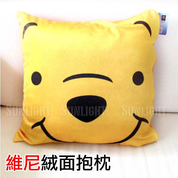 日光城。維尼絨面抱枕,迪士尼枕頭車用米妮米奇史迪奇熊抱哥泰瑞怪獸毛怪大眼仔奇奇蒂蒂