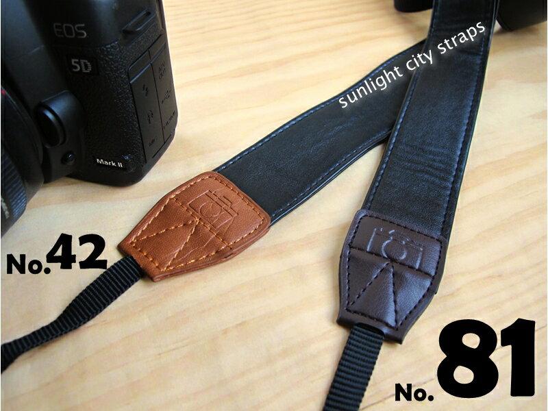 日光城。黑色皮革,深咖皮革單眼相機背帶 700D D90 EM5 GF6 GF5 G15 nex5R NEX5T(NG081)